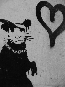 graffiti rat by Banksy